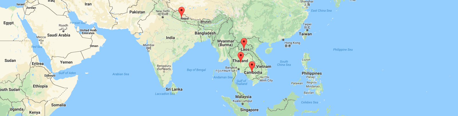 Volunteer projects map